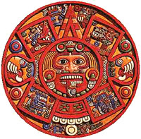 Aztec art piece