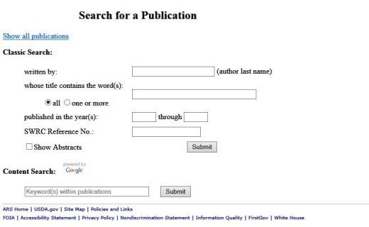 Search through our publications list