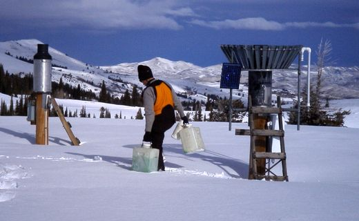 Servicing sites in the winter.