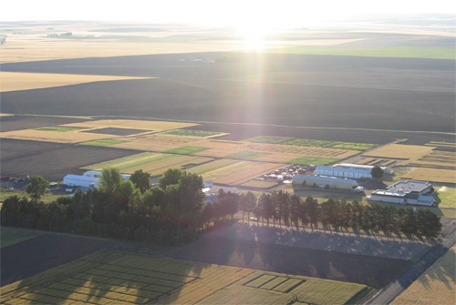 Aerial view of Columbia Plateau Conservation Research Center