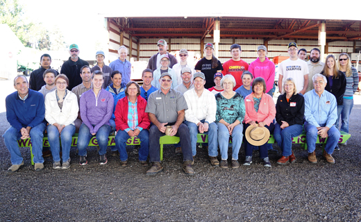 USDA-ARS and OSU employees gather for a staff photo.