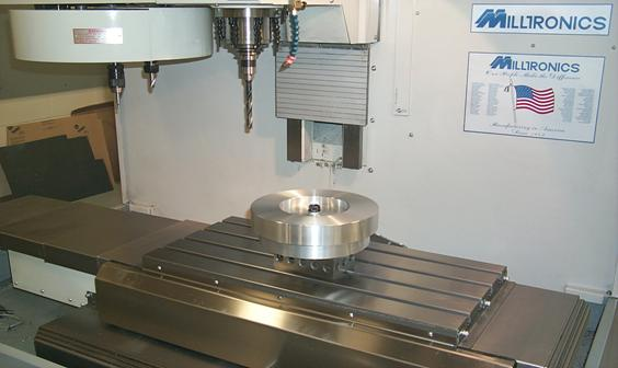 RH15 CNC mill used here to drill lug clearance holes