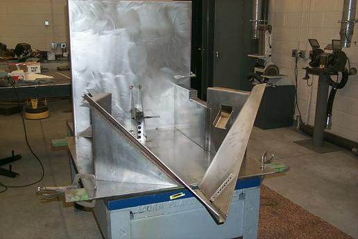 Coshocton flume made from 8 and 10 gage stainless steel
