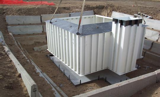 Rocky Ford Colorado weighing Lysimeter outer retaining tank installation