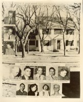 Manhattan staff: Likely was taken about 1940, and shows the house in downtown Manhattan that housed the lab and the staff. The address is 520 North Juliette Avenue.