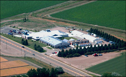 An aerial view of the USDA-ARS Northern Plains Agricultural Research Laboratory (NPARL) located in northeast Montana on the outskirts of the city of Sidney.