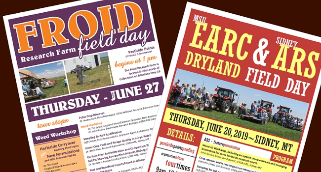 Posters for 2019 Field Day Events shown