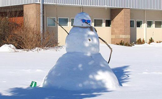 "NPARL's ""Frosty"" the snowman."