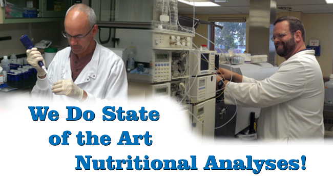 We Do State-of-the-Art Nutritional Analyses!