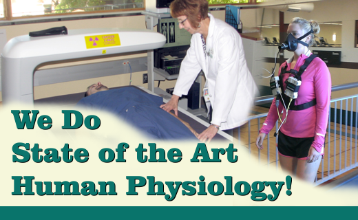 The Human Nutrition Research Center is unmatched in its capacity for conducting state-of-art physiological evaluations of humans.  This includes the ability to assess body composition, fitness status, responses to physical activity and energy metabolism.