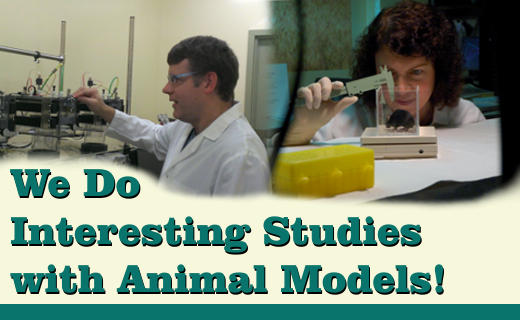 We Do Interesting Studies with Animal Models!