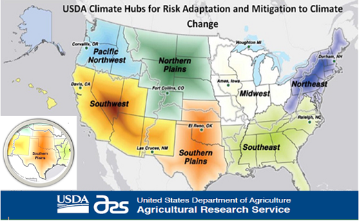 The Southern Plains Regional Climate Hub is located at Grazinglands Research Laboratory