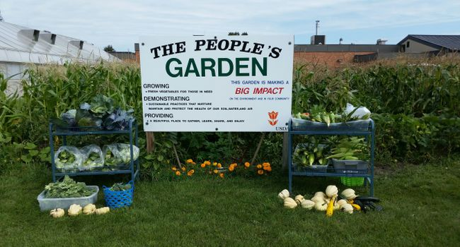Donations from the garden and non-perishable items earned NCARL the 2017 Gold Award and the 2016 Silver Award from Feds Feed Families.  The 2018 People's Garden contains: sweet corn, summer and winter squash, beans, cucumbers, greens, broccoli, cauliflower, cabbage, beets, and carrots.
