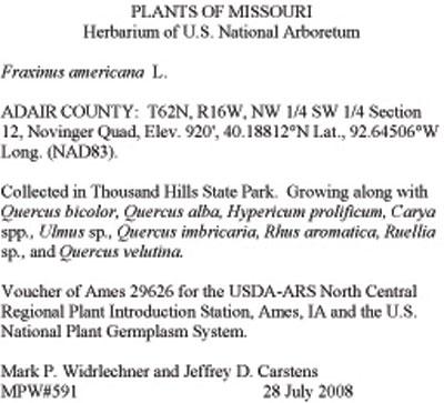 Herbarium Vouchers  USDA ARS