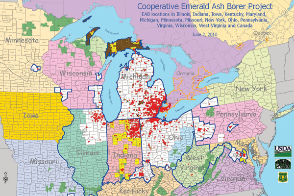 EAB Location Map