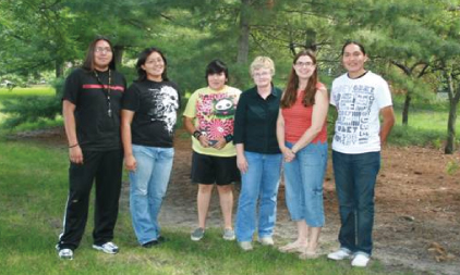 Native American Students with advisors.