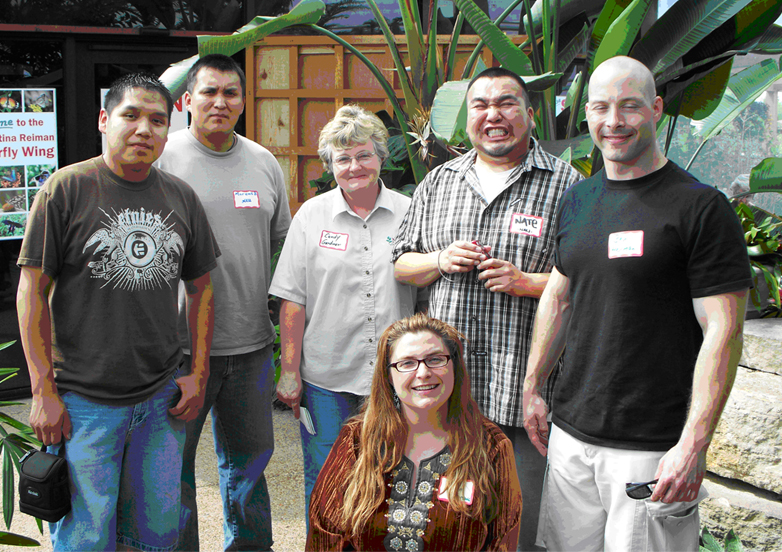 Left to right: Lamour Peshtony, Marcus Begay, Candice Gardner, Carolyn Lawrence, Nate Etsitty, Ben Herman