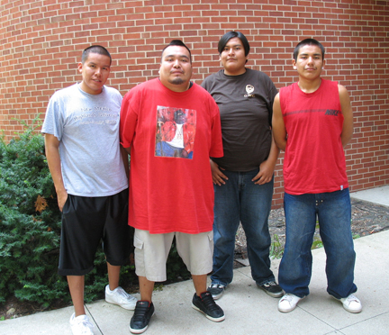 Native American Interns 2007 Group Photo. Shown from left to right: Zach, Nate, Jordon, and Robert.