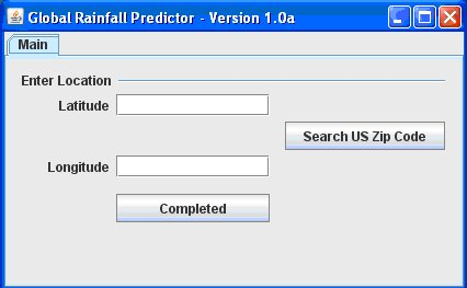 Global Rainfall Predictor tool