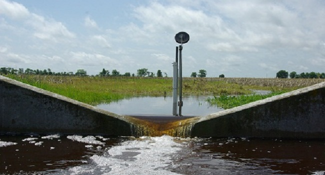 Weir run-off measurement