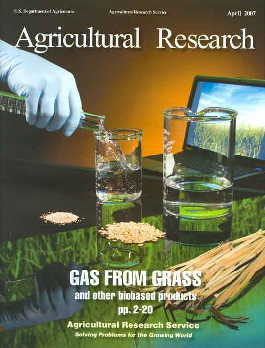 "Image of the April 2007 cover of ""Agricultural Research"" published by ARS."