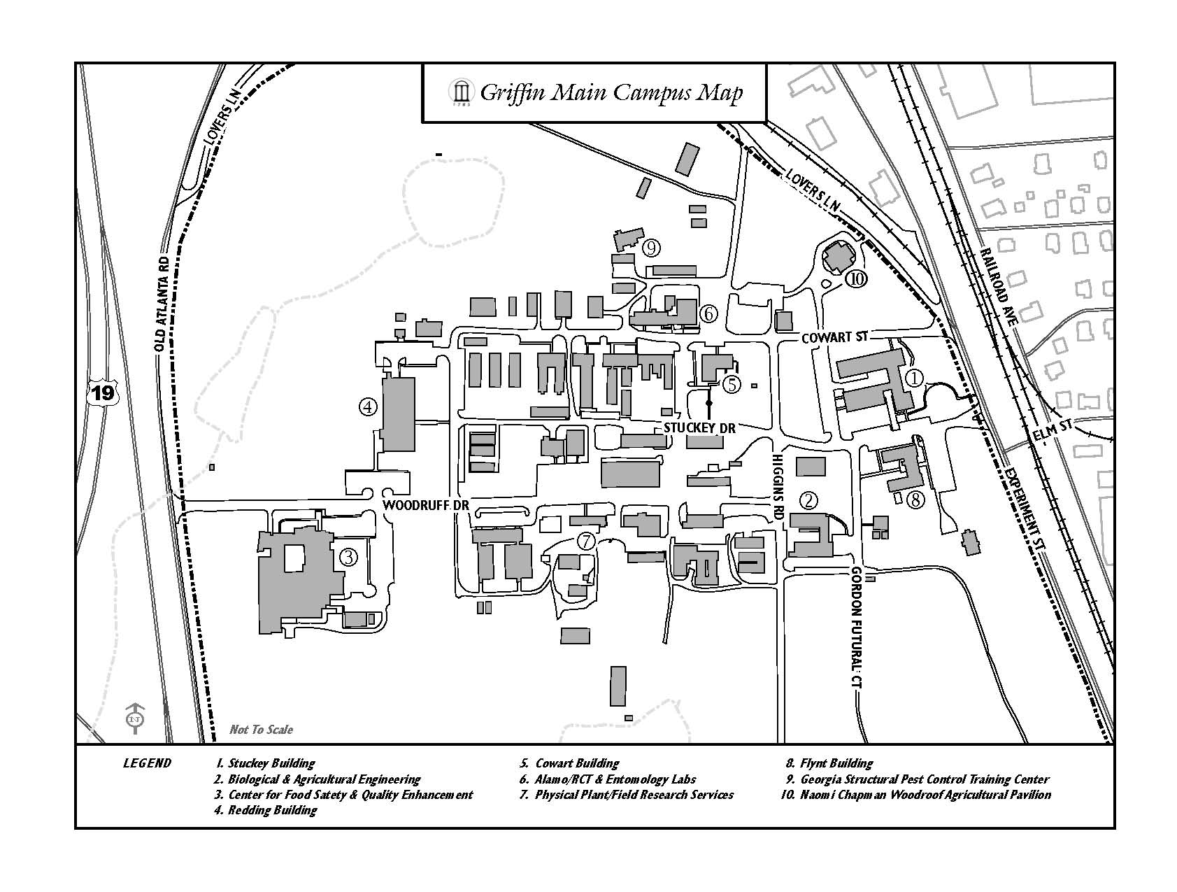 Uga Campus Map With Building Numbers.Curators Workshop Transportation Archived Usda Ars