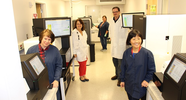 August 2017, GBRU's core workers in High-throughput Sequencing Lab
