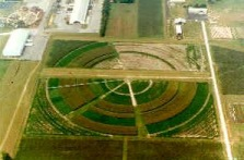 Aerial view of the site-specific Center Pivot Irrigation