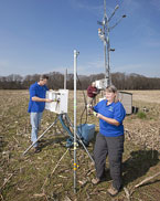 Scientists measure agricultural herbicides, photo by Peggy Greb