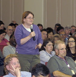BARC Employees ask Seceratary Vilsack Questions, Photo Jim Plaskowitz