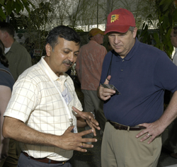 Secretary Vilsack and BARC Scientist Kamal Chauhan, Photo Jim Plaskowitz