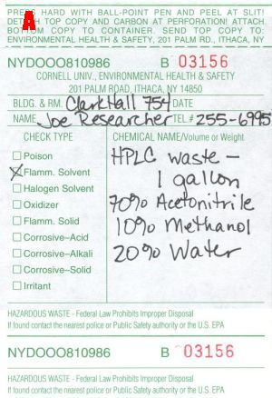 Good Hazardous Waste Lable