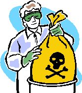 Bagging hazardous waste