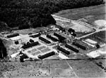 Photo: Aerial view of Civilian Conservation Corps (CCC) camp,  Beltsville Agricultural Research Center