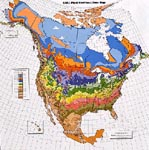 Plant zone hardiness map