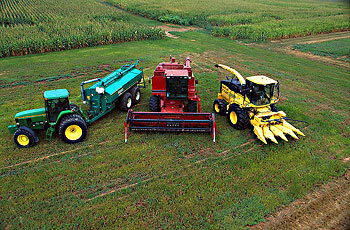 Farm machines at BARC that run on biodiesel - ARS photo K8247-15