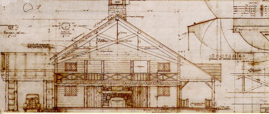 Original Plans for the Log Lodge.