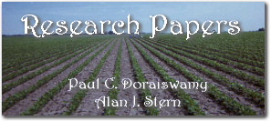 Research Papers - Crop Condition and Yield Research - Paul C. Doraiswamy and Alan J. Stern