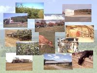 Photo showing various aspects of the farm system that must be integrated in order to study the whole farm.