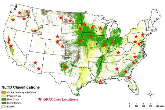 GRACEnet Locations Map 2012