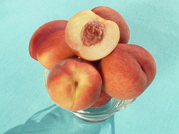 A bowl of Gulfsnow peaches.
