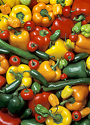 ARS scientists evaluated different types of peppers for attributes that prolong the shelf life of fresh-cut peppers. Link to photo information