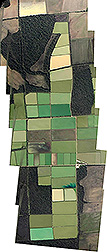 Mosaic of landscape images obtained from aircraft. Link to photo information