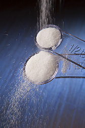 Photo: Salt filling teaspoon and half teaspoon measuring spoons. Link to photo information