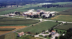 Aerial view of part of the Beltsville research center. Link to photo information
