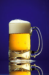 Glass mug of beer. Link to photo information