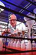 Chemist Chris Roager extracting nitrogen from soil