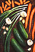 Carrots, onions, garlic and cucumbers
