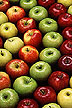 Red, yellow and green apples