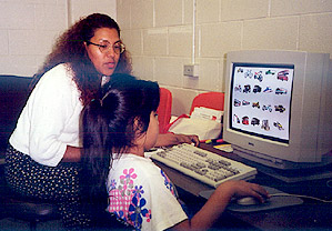 Photo: Student taking computerized tests